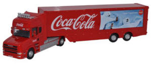 Oxford Diecast - Scania T Cab Box Trailer - Coca Cola - 76TCAB005CC