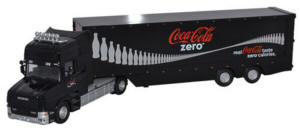 Oxford Diecast - Scania T Cab Box Trailer - Coke Zero - 76TCAB006CC