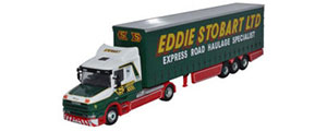 Oxford Diecast - Scania T Cab Curtainside - Eddie Stobart - 76TCAB007