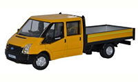 76TPU004 - Oxford Diecast Ford Transit Dropside Highway Maintenance