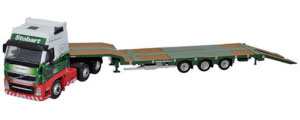Oxford Diecast - Volvo FH3 3 Axle Nooteboom Semi Low Loader Stobart - 76VOL01ST