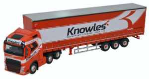 76VOL4003 - Oxford Diecast Volvo FH4 - (G) Curtainside Knowles