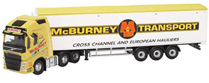 76VOL4008 - Oxford Diecast Volvo FH4 GXL Walking Floor McBurney Transport