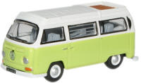 New Modellers Shop - Oxford Diecast - VW Camper Lime Green White -76VW012