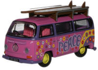 New Modellers Shop - Oxford Diecast - VW CamperFlower Power Pink - 76VW017