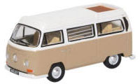 76VW027 - Oxford Diecast VW Bay Window Camper Savannah Beige / White