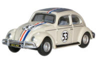 Oxford Diecast VW Beetle - Pearl White (Herbie) - 76VWB001