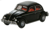 Oxford Diecast VW Beetle Black - 76VWB005