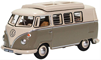 76VWS006 - Oxford Diecast VW T1 - Camper Mouse Grey / Pearl White