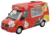 New Modellers Shop - Oxford Diecast - Mercedes Walls Ice Cream Whitby Mondial Ice Cream Van - 76WM001