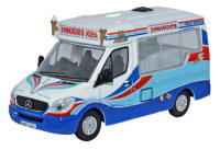 Oxford Diecast - Mercedes Whitby Mondial Ice Cream Van - Dimachios - 76WM002