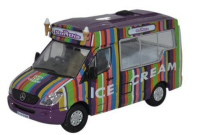 Oxford Diecast Mercedes Whitby Mondial Ice Cream Van - Smiths - 76WM006