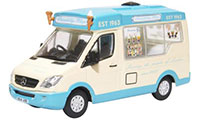 Oxford Diecast Mercedes Whitby Mondial Ice Cream Van - Piccadilly Whip - 76WM007