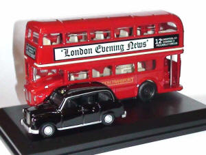 Oxford Diecast London Bus and Taxi Gift Pack - LD004