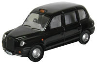 Oxford Diecast OO Gauge Model Railway Vehicles - Oxford TX4 London Black Cab / Taxi - 76TX4001