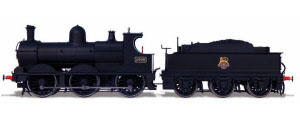 Oxford Rail - Deans Goods Steam Locomotive - BR Early 2409 - OR76DG002