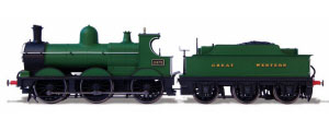 Oxford Rail - Deans Goods Steam Locomotive - Great Western - OR76DG003