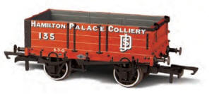 Oxford Rail - Hamilton Palace Collier - 4 Plank Wagon - OR76MW4004