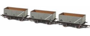 Oxford Rail - 3 x BR Grey 7 Plank Mineral (P73208/P153057/P201347 - OR76MW7014