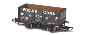 Oxford Rail - Wigan Coal & Iron Co A147 - 7 Plank Mineral Wagon - OR76MW7017