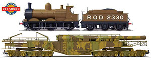 OR76BOOM01XS - Oxford Rail WW1 Boche Buster - Camouflage And Rod 2330 Dcc Sound