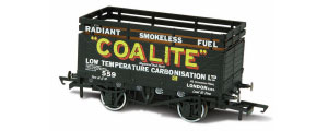 OR76CK7002 - Oxford Rail Coalite (552) 7 Plank Coke Wagon