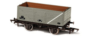 Oxford Rail - BR Grey - 7 Plank Mineral Wagon (P58699) - OR76MW7013B