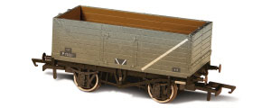 Oxford Rail - BR Grey - 7 Plank Mineral Wagon Weathered - OR76MW7015 | OR76MW7015B