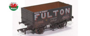 OR76MW7018W - Oxford Rail - Wigan Fulton 602 - 7 Plank Mineral Wagon - Weathered