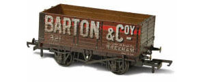 OR76MW7020W - Oxford Rail - Barton and Co No. 321 - 7 Plank Mineral Wagon (Weathered)