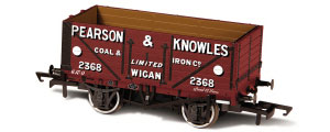 Oxford Rail - Pearson & Knowles - 7 Plank Mineral Wagon - OR76MW7023