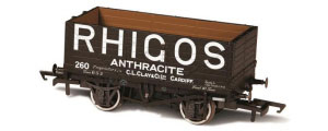 Oxford Rail - Rhigos Anthracite Cardiff No.260 - 7 Plank Mineral Wagon - OR76MW7025