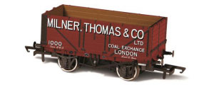 Oxford Rail - Milner Thomas and Co London No.1000 - 7 Plank Mineral Wagon - OR76MW7027