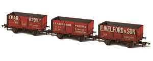 Oxford Rail - Mixed Livery 7 Plank Mineral Wagon Triple Pack - OR70MW29