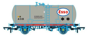 Oxford Rail Class A Tank ESSO 4022 Class A Revised Suspension - OR76TKA002