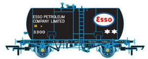 Oxford Rail Class B Tank Esso Black Original Suspension 3300 Class B - OR76TKB001