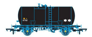 Oxford Rail Class B Tank Esso Unbranded Black Revised Suspension 47792 - OR76TKB001