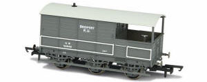 Oxford Rail - GWR Toad Brake 6 Wheel Plated (late) 'Bridport' - OR76TOA002