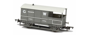 OR76TOB001 - Oxford Rail - Toad Brake Van GWR 4 Wheel Planked (early) Paddington