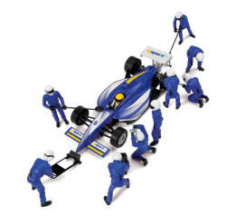 Scalextric Pit/Wheel Crew plus Indy Blue