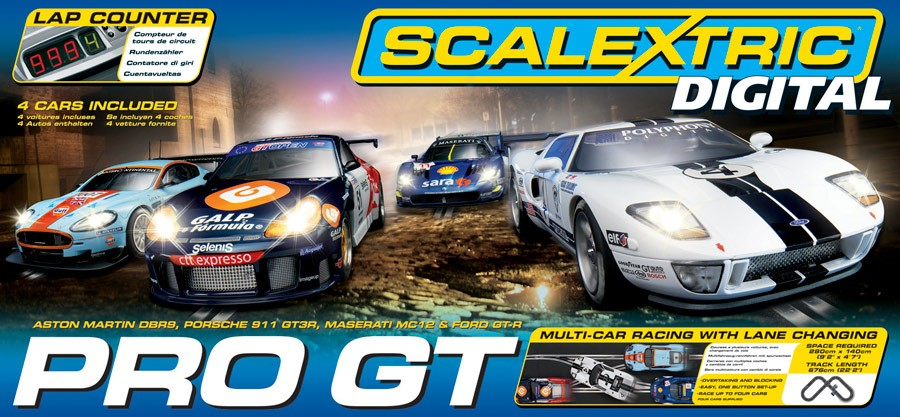 Discontinued C1260 Scalextric Pro Gt Race Set New Box