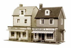Superquick Model Card Kits - B22 Two Country Town Shops