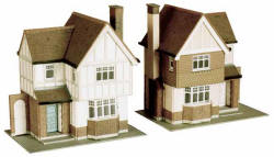 Superquick Model Card Kits - B23 Two Detached Houses