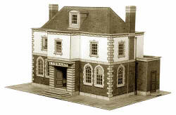 Superquick Model Card Kits - B25 Police Station or Library
