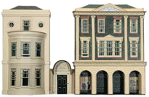 Building model houses from card