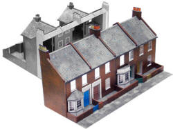 Superquick Model Card Kits - C5 and C6 Red Brick Terrace Backs and Fronts